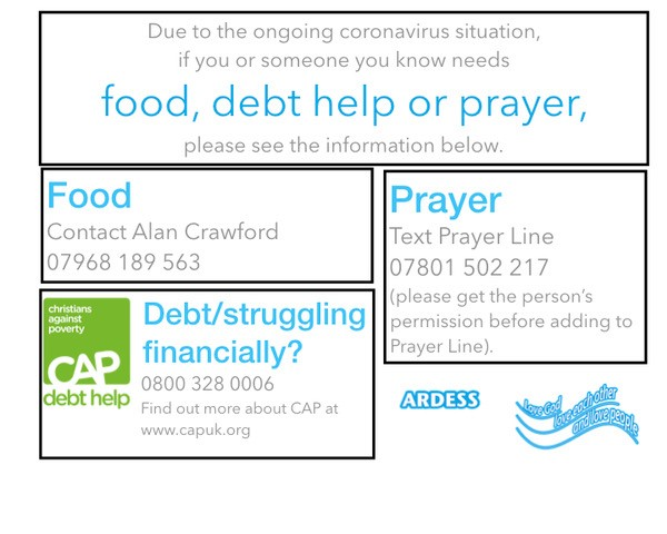 Food Debt Help or Prayer